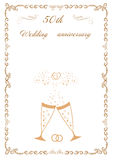 Congratulations to the 50 anniversary  wedding Royalty Free Stock Photography