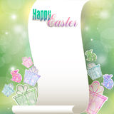 Congratulations to the holiday of Easter Stock Images