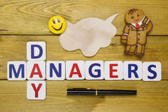 Congratulations to the manager Royalty Free Stock Image