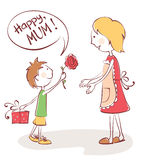 Congratulations to mom Royalty Free Stock Images