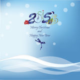 Congratulations to the 2015 New Year. Vector background Royalty Free Illustration