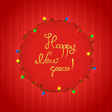 Congratulations to New Year vector illustration Stock Images