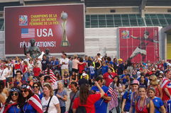 Congratulations USA, 2015 FIFA Women's World Champion (in French) Royalty Free Stock Photos