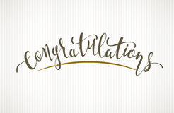 Free Congratulations. Vector Lettering On Light Background Stock Images - 97781854
