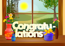 Congratulations wallpaper background Stock Photography