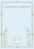 Congratulations with the wedding frame  illustration Royalty Free Stock Image