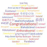 Congratulations. Word collage Stock Images