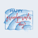 Congratulations and the words Happy grandparents day. Stock Images