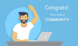 Congratulations you are a part of community Royalty Free Stock Photo