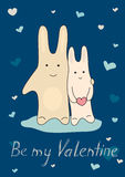 Congratulatory сard on Valentine day Royalty Free Stock Photos