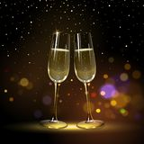 Congratulatory Background with Champagne Glasses stock illustration