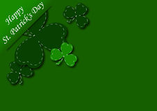 Congratulatory background with shamrock Royalty Free Stock Photo