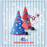 Congratulatory background to the day of independence Royalty Free Stock Images