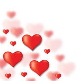 Congratulatory background of Valentines day Stock Images