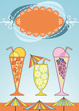 Congratulatory banner with drinks Stock Photography