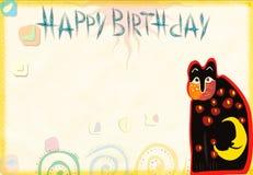 Congratulatory card on birthday royalty free stock photography