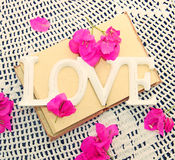 Congratulatory decor for wedding or valentine's day Stock Photography