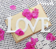 Congratulatory decor for wedding. Or valentine's day Royalty Free Stock Images