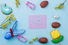 Congratulatory Easter background. stock photography