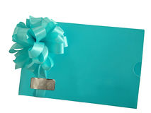 Congratulatory envelope with a bow Royalty Free Stock Image