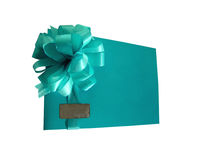 Congratulatory envelope with a bow Stock Photography