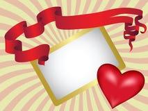 Congratulatory letter. Valentine's day illustration Stock Photos