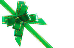 Congratulatory ribbon green Royalty Free Stock Image