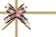 Congratulatory ribbon white - pink royalty free stock image