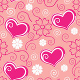 Congratulatory seamless pattern background of Valentine day Royalty Free Stock Photo