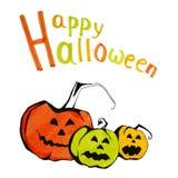 Congratulazione di Halloween Fotografia Stock Libera da Diritti