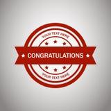 Congratulazione di logo di vettore immagine stock libera da diritti
