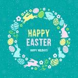 Congratulazione felice di Pasqua illustrazione di stock