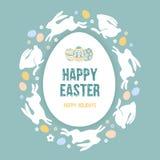 Congratulazione felice di Pasqua illustrazione vettoriale