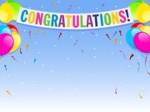 Congratulazioni Fotografie Stock