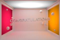 Congratulazioni 3D Fotografia Stock