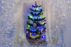 Congratulazioni di Natale e del nuovo anno immagini stock