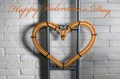 Congratulazioni il giorno del ` s del biglietto di S. Valentino dall'elettricista Fotografia Stock