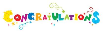 Congratulazioni lunari Immagine Stock