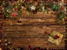 Congratulazioni sull'immagine di sfondo di Natale rappresentazione 3d Immagine Stock