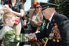 Congratulazioni in Victory Day Fotografia Stock