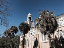 Congregación Mickve Israel en la sabana, Georgia en la sol del invierno Imagenes de archivo