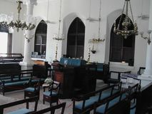 Synagogue Hebrew Congregation Of St. Thomas. Congregation Of St. Thomas in the Caribbean inside the Synagogue Stock Photography