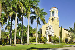 Congregational Church. Of Coral Gables, Miami, Florida, USA royalty free stock images