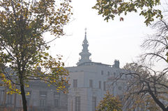 Congregational Church and the French Embassy in Belgrade Royalty Free Stock Photography