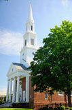 Congregational Church New England. The First Church of Christ Congregational in West Hartford, Connecticut on a sunny day royalty free stock photo