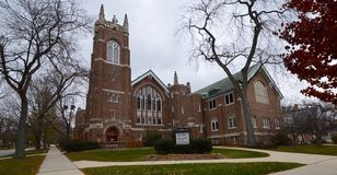 Congregational Church. This is a picture of the First Congregational Church in the Historic District of Glen Ellyn, Illinois. This church was built in 1920 and stock photos
