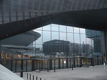 Congres center elevation and design. Congres center view in the city of Katowice Poland stock image