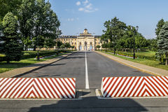 Congres Palace-Constantine Palace in Strelna on a sunny summer d Stock Images