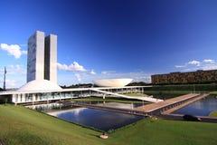 Congresgebouwen in Brasilia stock foto