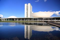 Congresgebouwen in Brasilia royalty-vrije stock fotografie